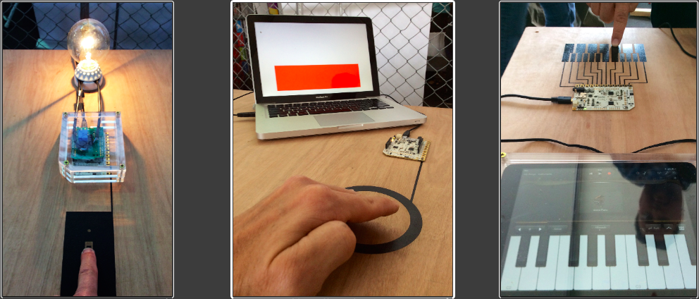 Conductive paint as capacitive input via Touch Board