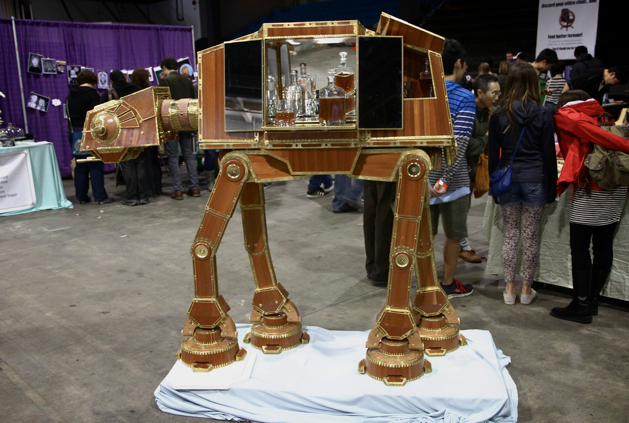 Colin Johnson's AT-AT from Vancouver Mini Maker Faire 2013