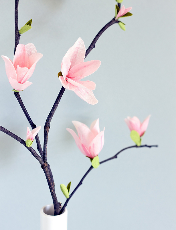 How-To: Paper Magnolia Blossoms   Make: