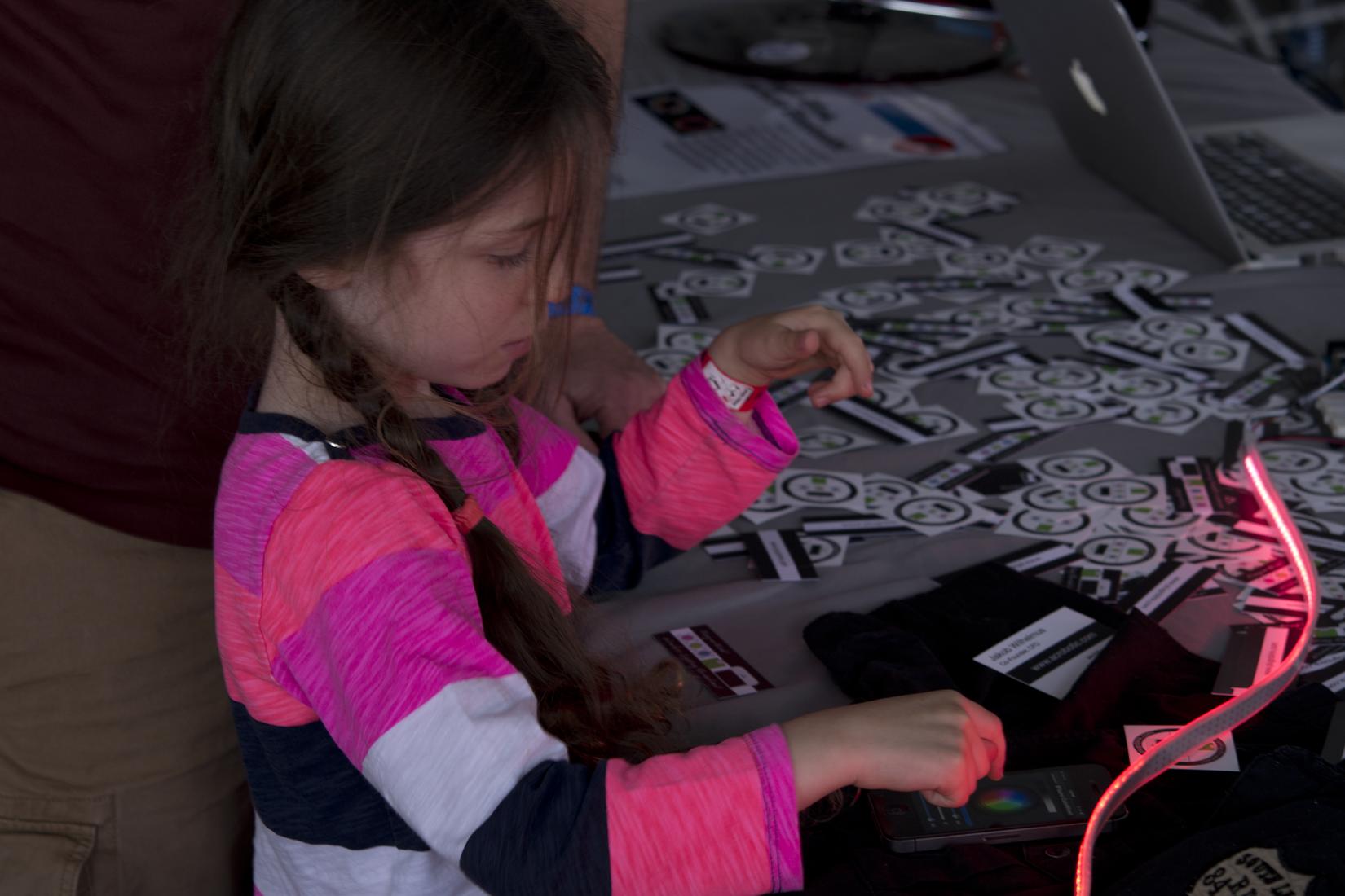 Upcoming Kickstarter Plug-n-Blink being demoed at Maker Faire Bay Area '14.