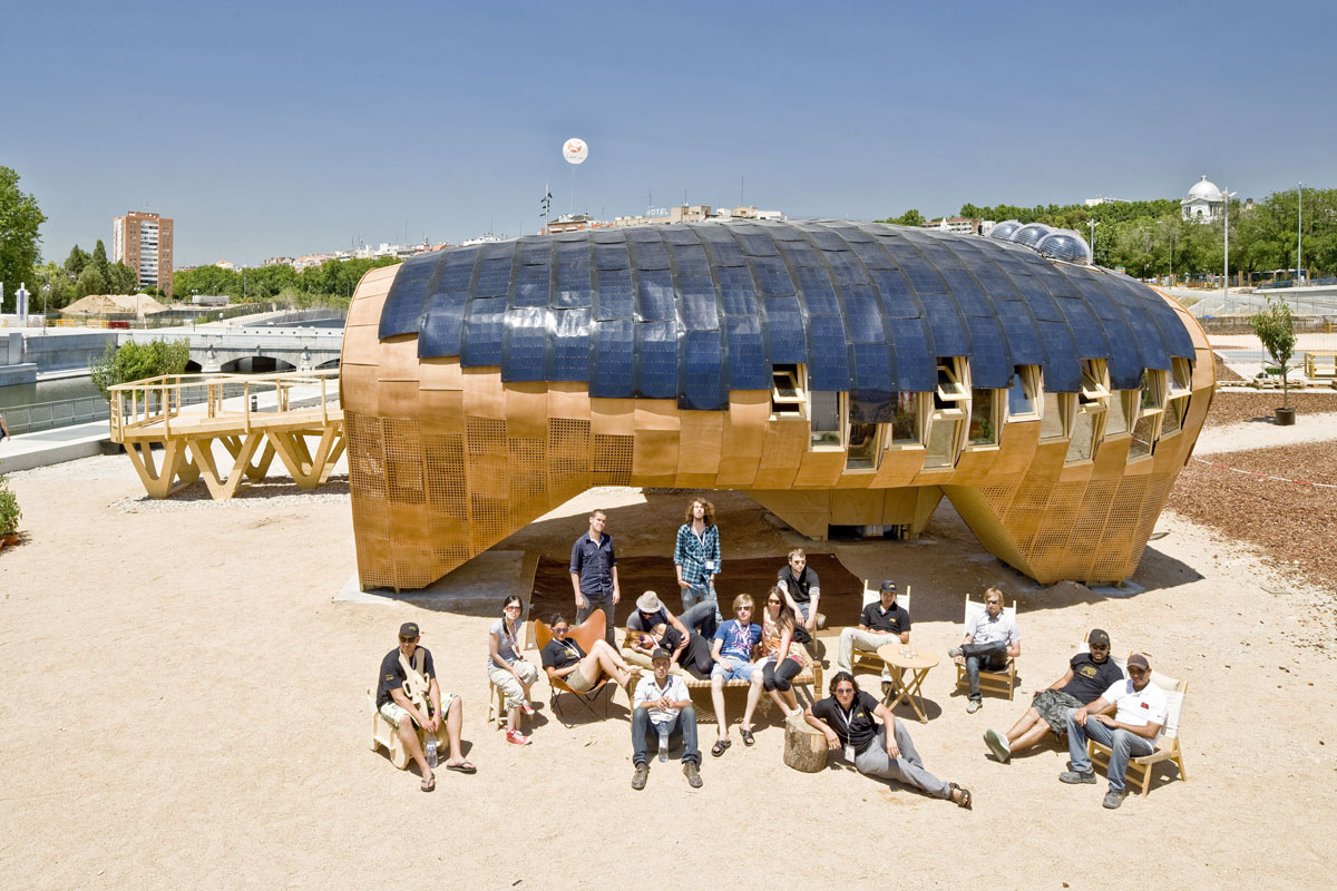 The Fab House produced at Fab Lab Barcelona for the Solar Decathlon Europe uses an intentionally anthropomorphic, climate-passive parametric design.
