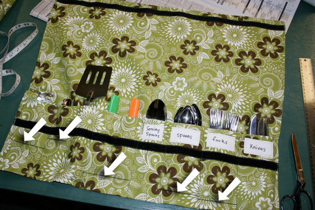 DIY Camping Silverware Holder