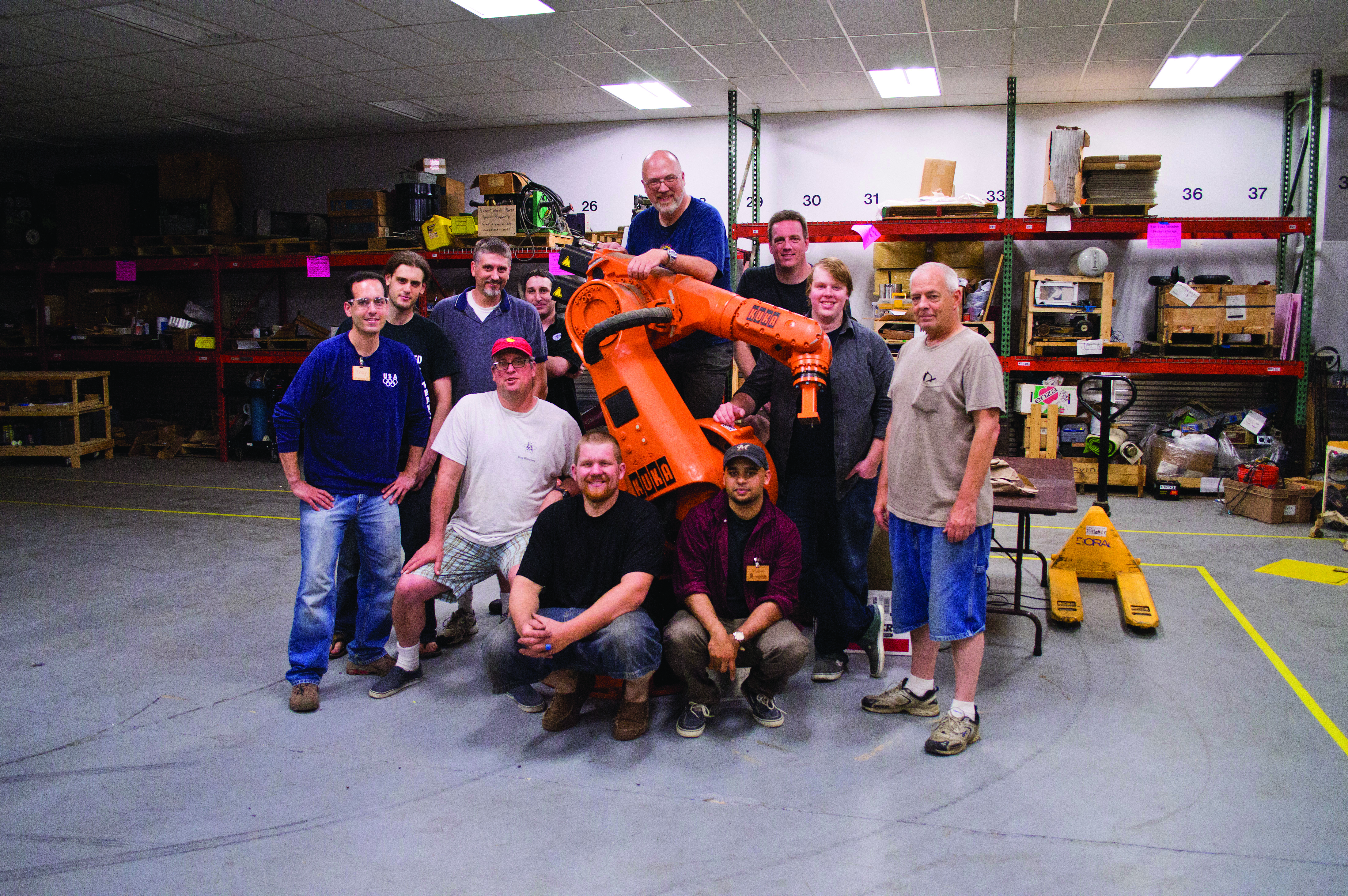 The crew from Milwaukee Makerspace, one of the organisations behind Maker Faire Milwaukee.