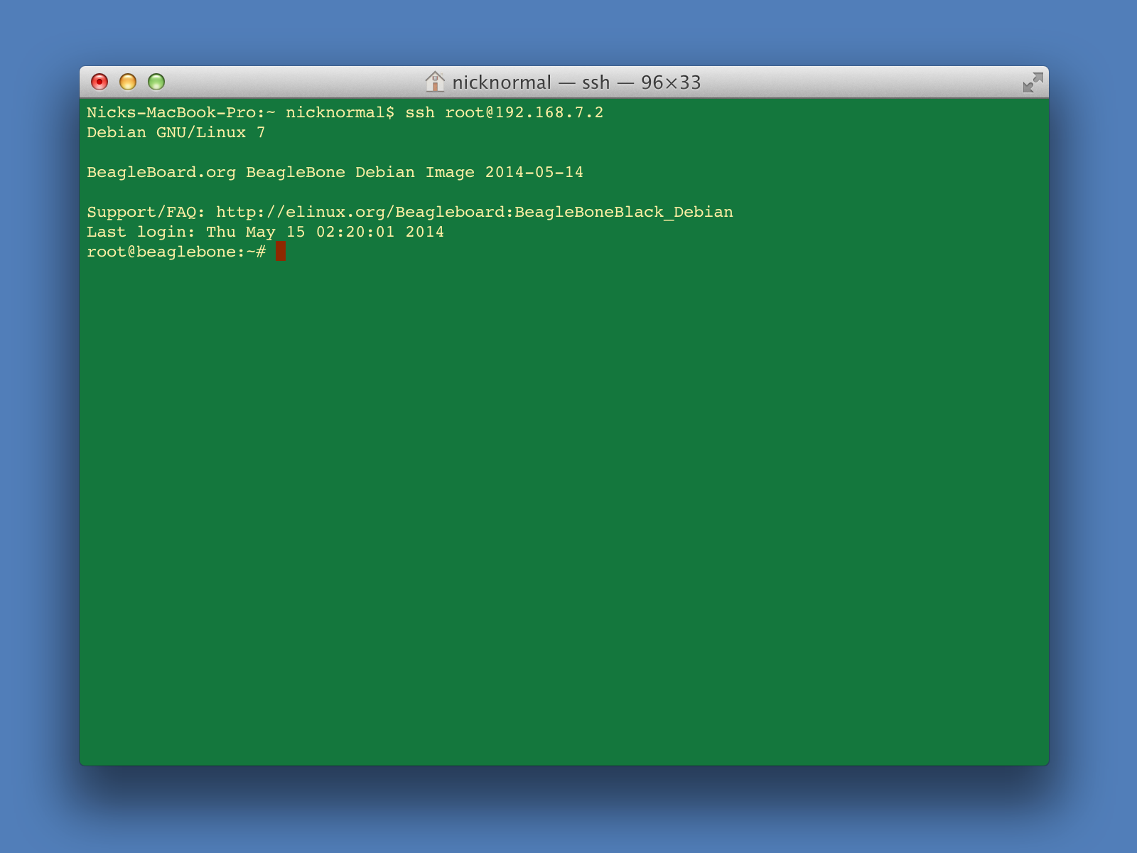 BeagleBone Black: Update to Debian (for OSX)