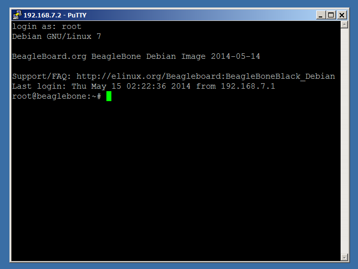 BeagleBone Black: Update to Debian (for Windows)
