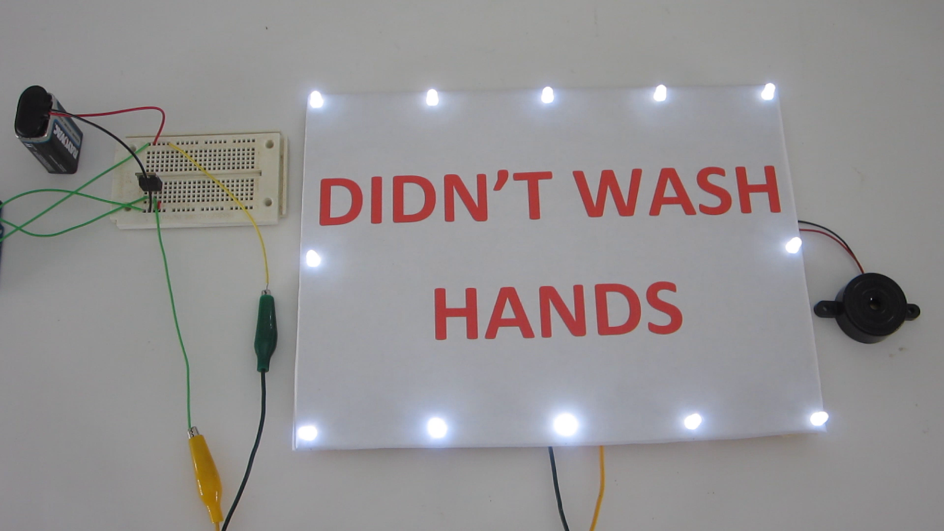 """Didn't Wash Hands""Alarm"