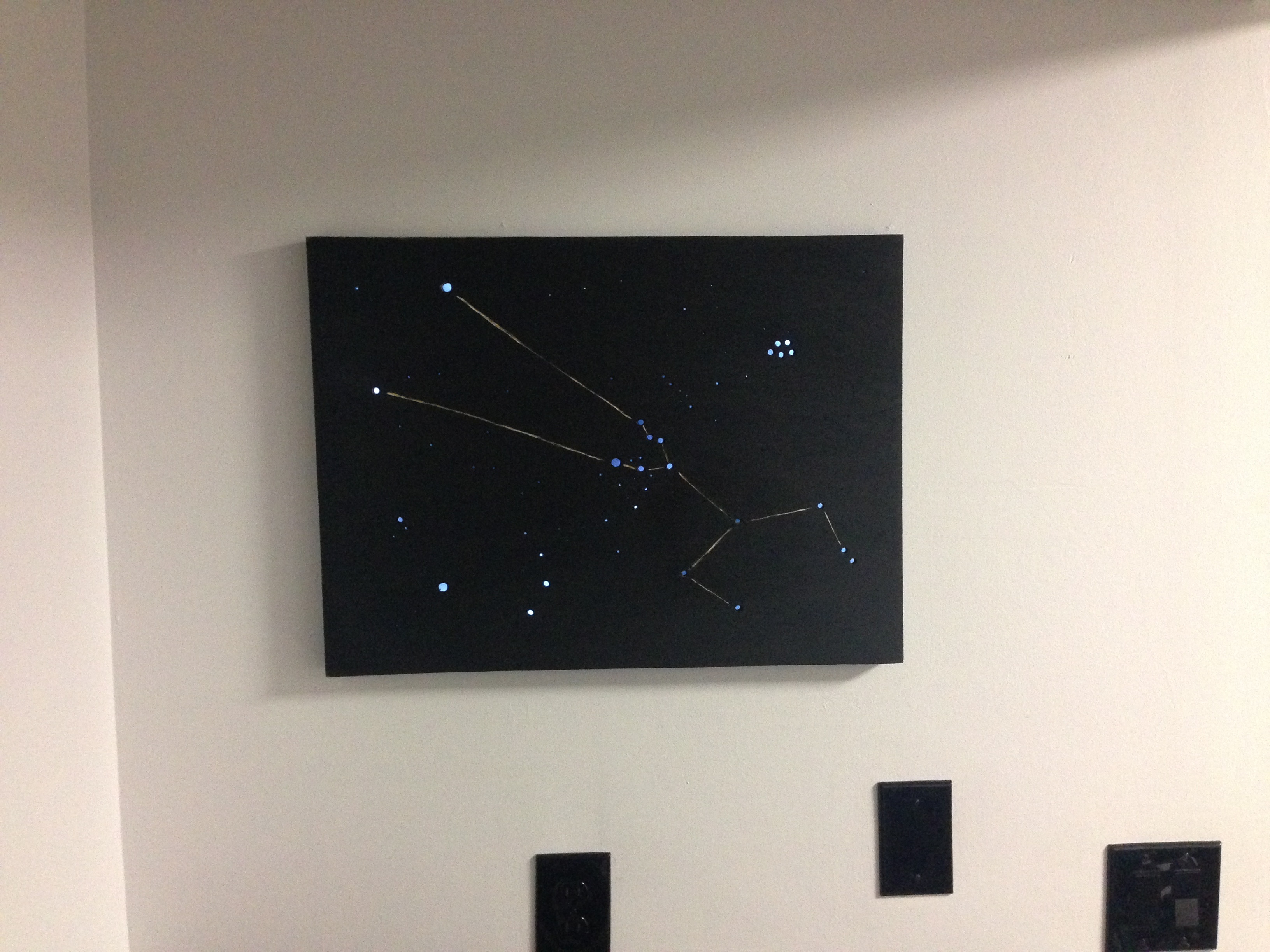 Love Led Wall Decor : Led constellation wall art make