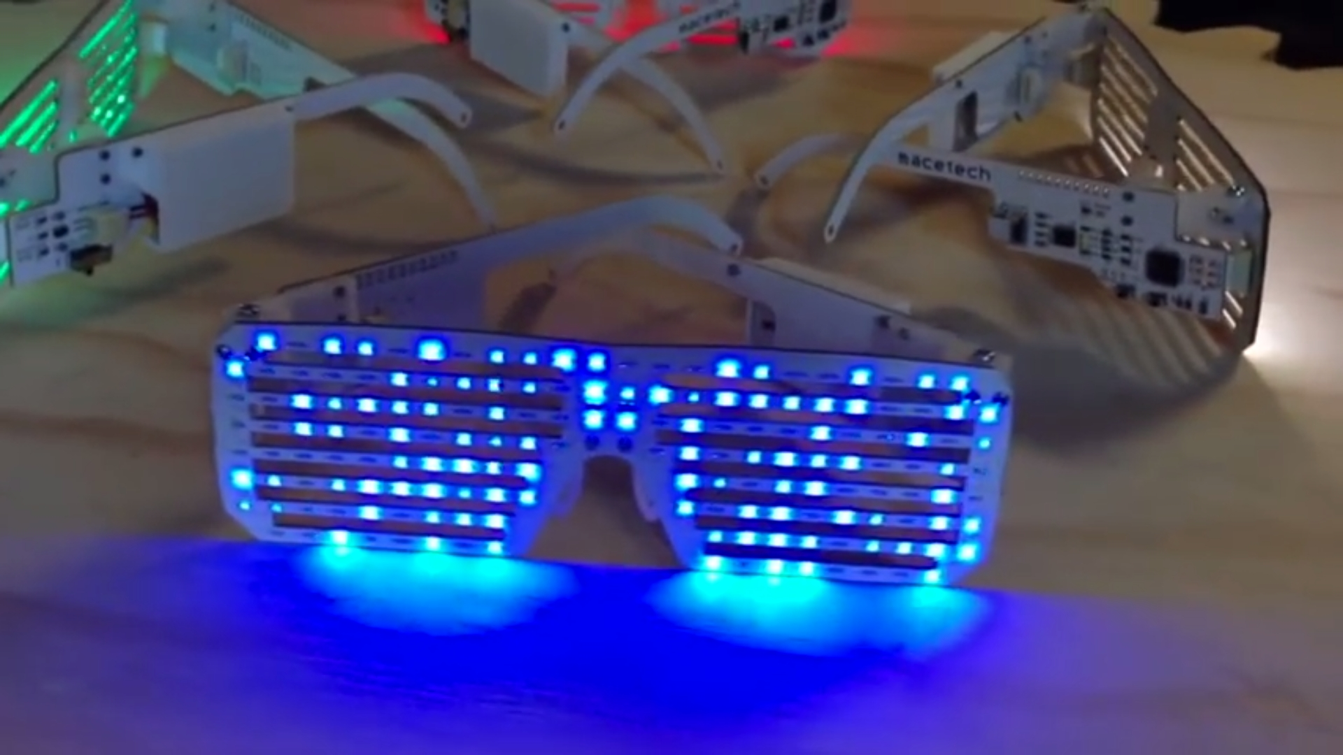 New and improved LED Matrix Shades come with a choice of blue, green, red, or white LEDs.
