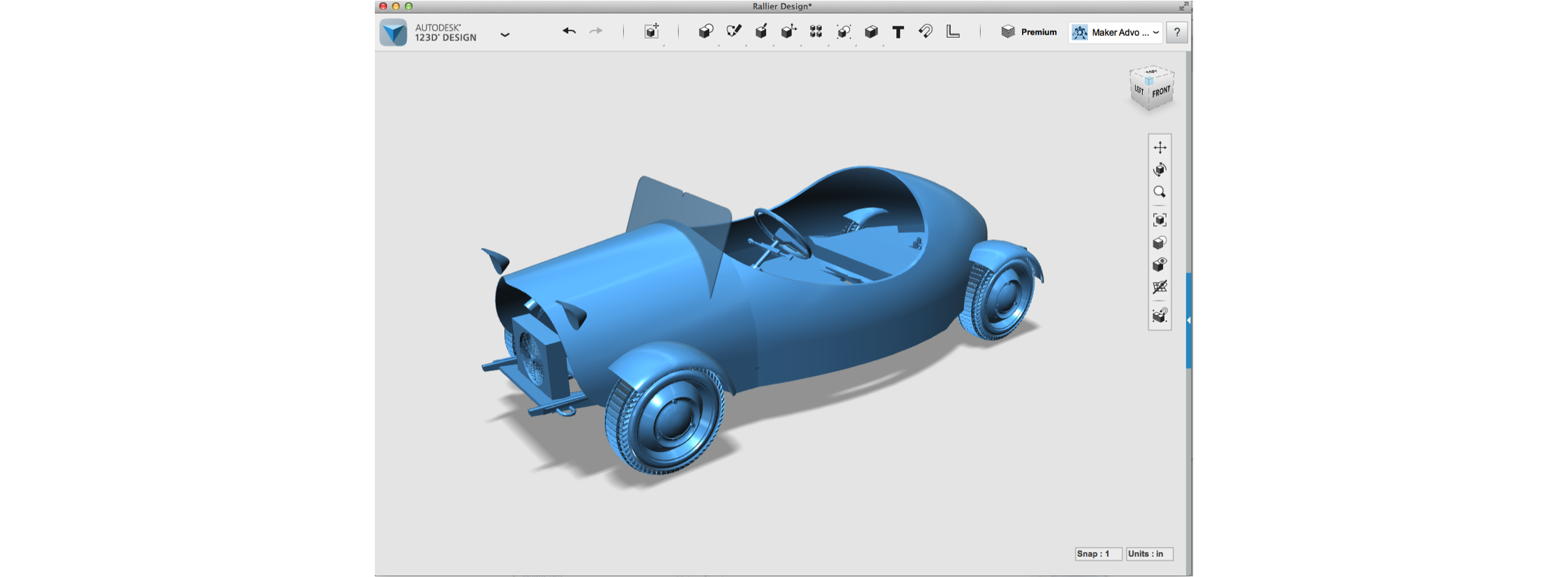 How to make a car body with autodesk 123d make 123d cad