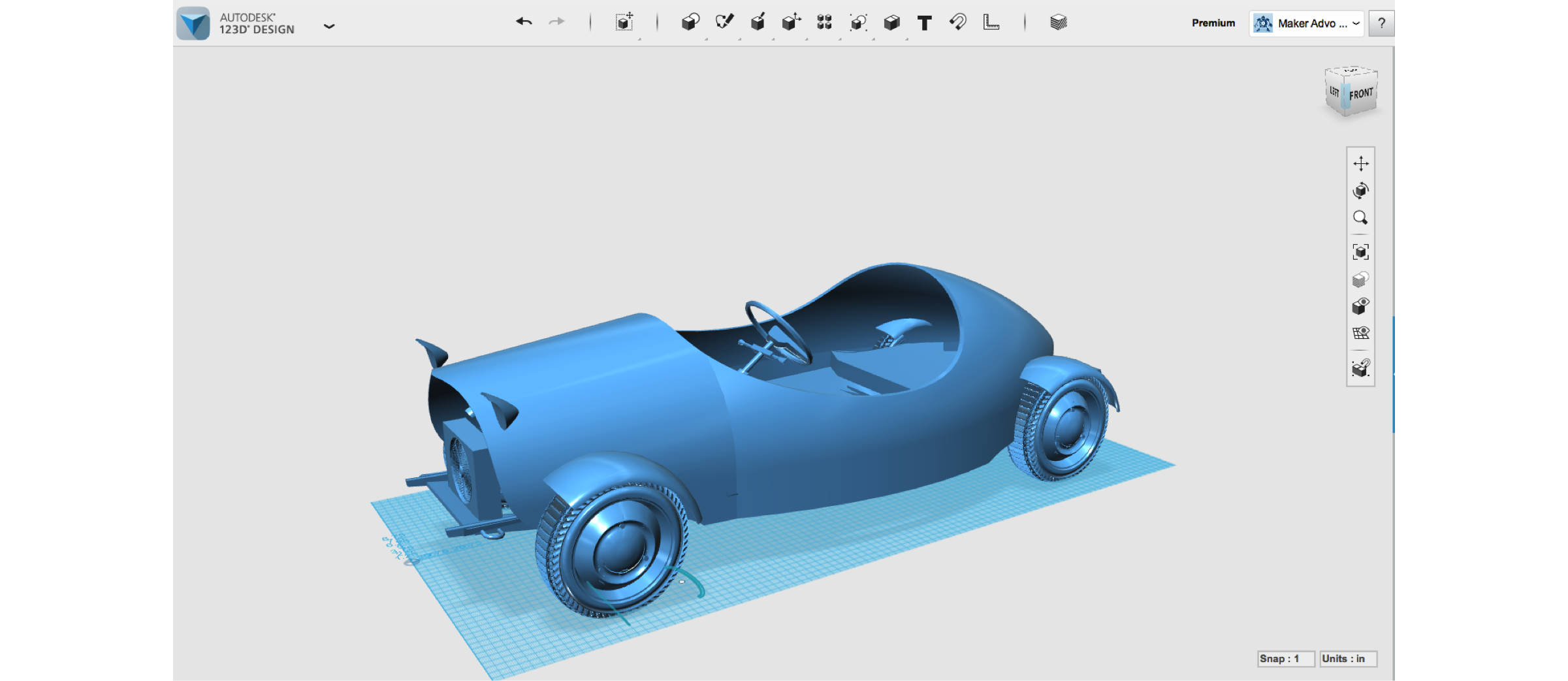 How to Make a Car Body with Autodesk 123D