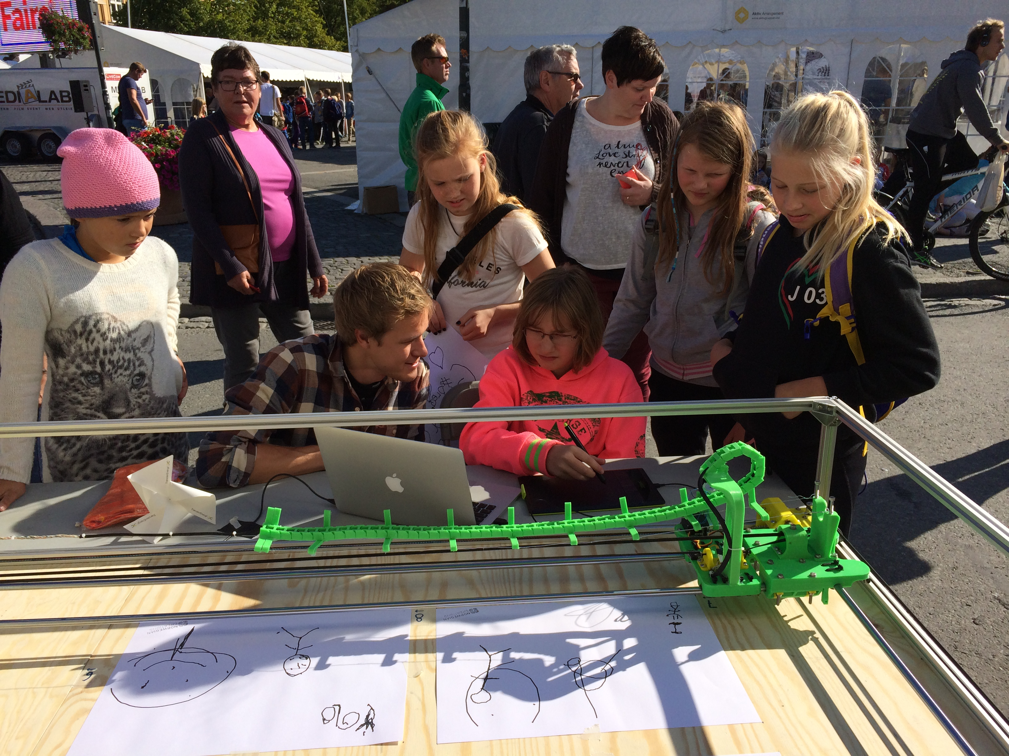 The Norwegian Creations' Drawing Machine at Maker Faire Trondheim