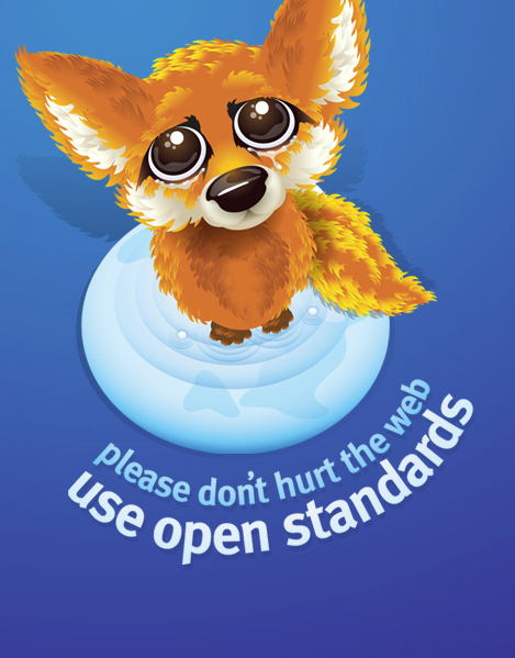 This baby firefox loves open standards and so should you.  Image courtesy Mozilla.