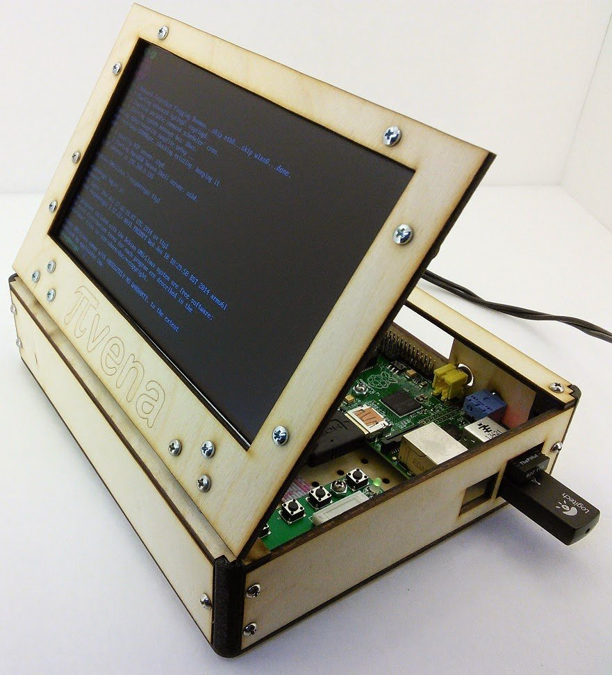Pivena a raspberry pi laptop inspired by novena make