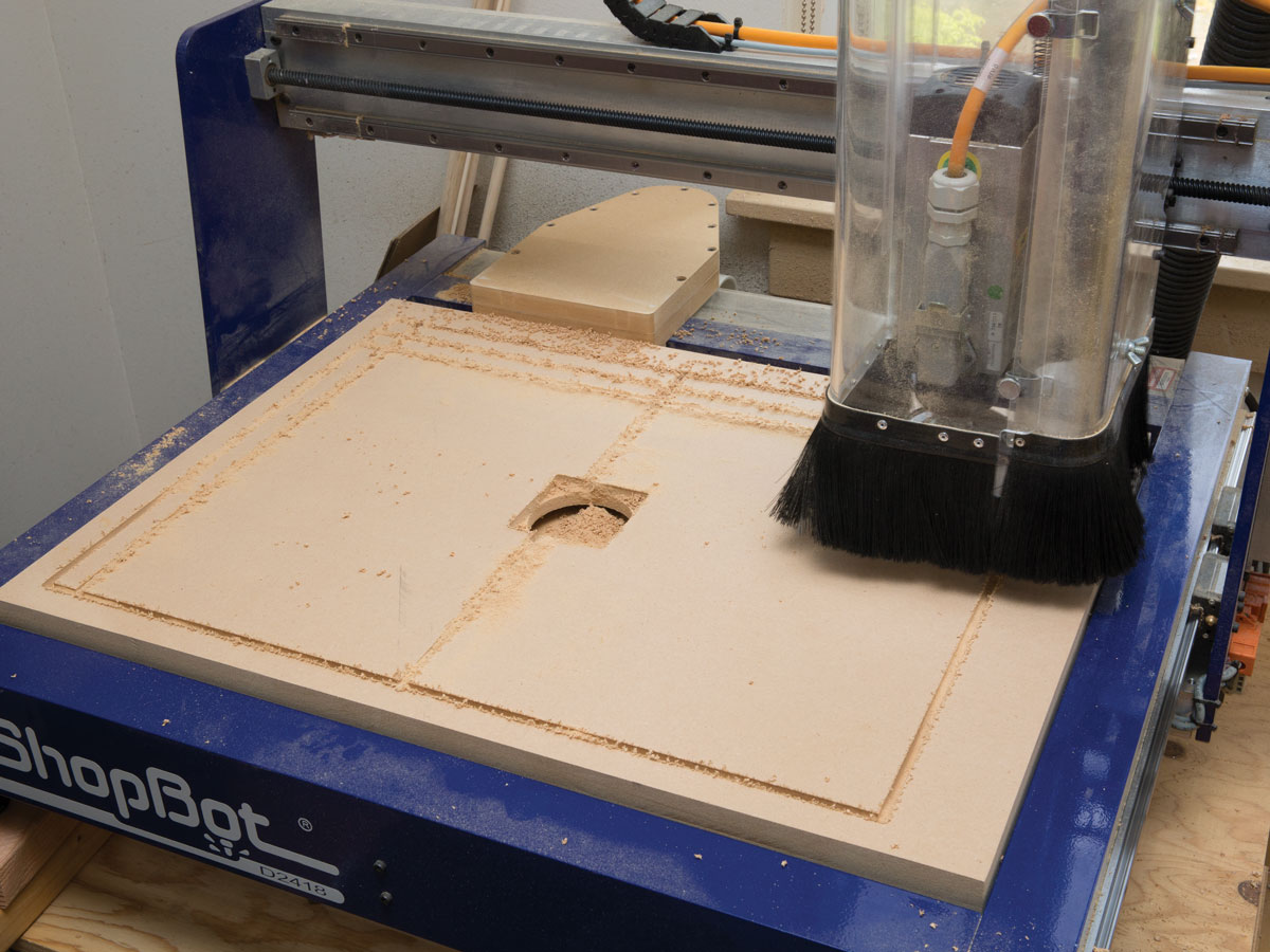 Shopbot Desktop Universal Vacuum Hold Down System Make