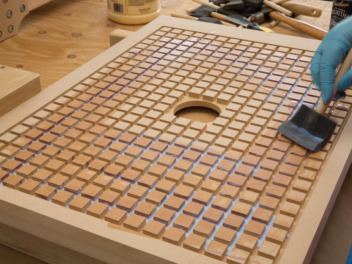 Shopbot desktop universal vacuum hold down system make for Table in material design