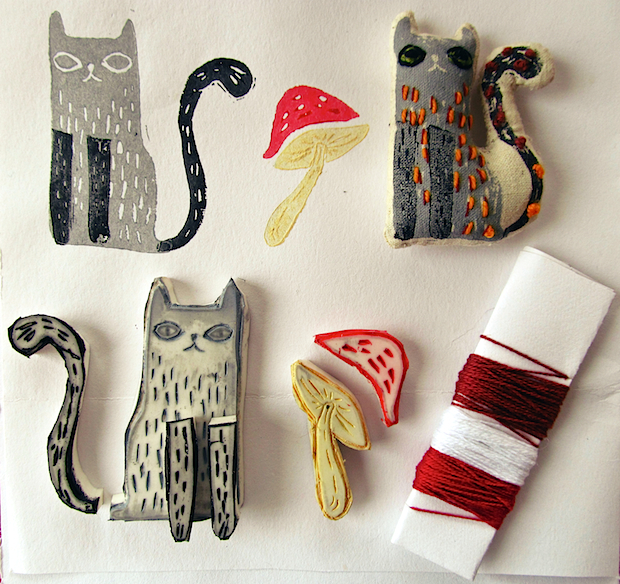 03_cat_and_mushroom_stamps_flickr_roundup