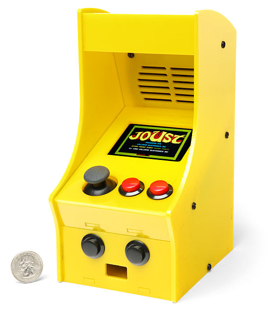 ThinkGeek's CupCade DIY Mini Arcade Cabinet looks like a Coleco machine but is infinitely better