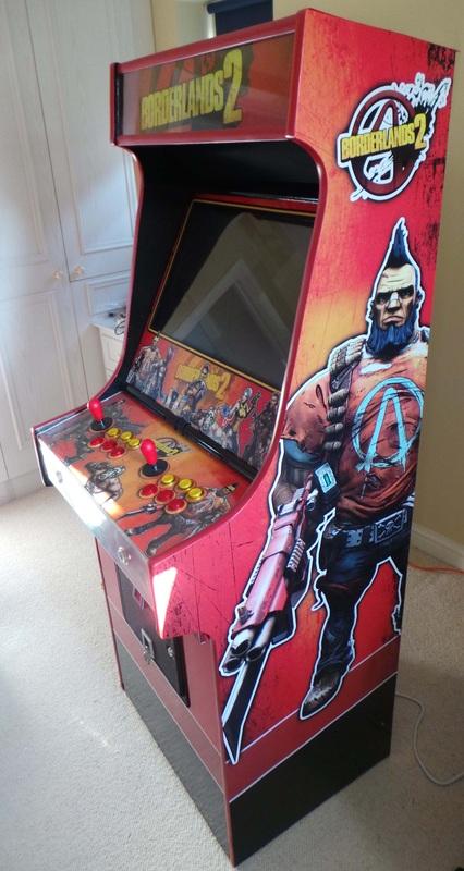 Steve Hunt's Borderlands 2 MAME-based arcade cabinet