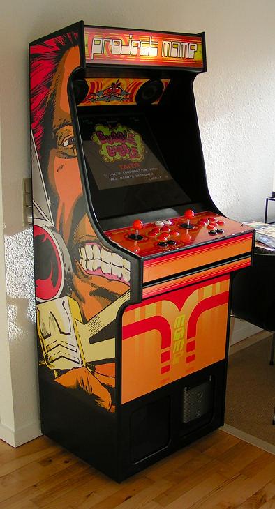 Rasmus Koenig Sorensen's Project MAME Arcade Cabinet with Thundercat's side art