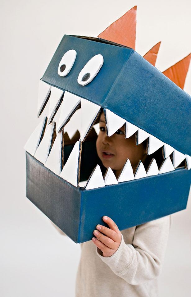 How To Cardboard Dinosaur Costume Make