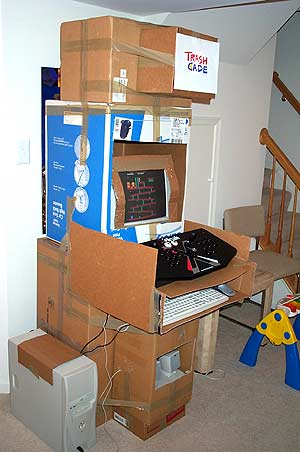 UGIANSKY's TrashCade arcade machine for those with little to no money