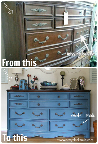 Aubusson-Blue-Dresser-Plus-Missing-Handle-I-Made-to-Match
