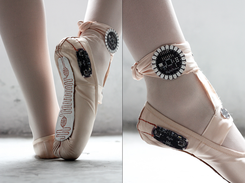 Ballet Slippers That Make Drawings from