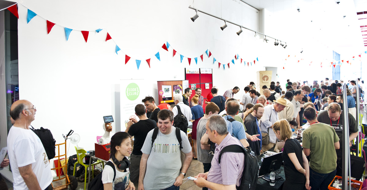 Makers and visitors at last year's Elephant & Castle Mini Maker Faire.