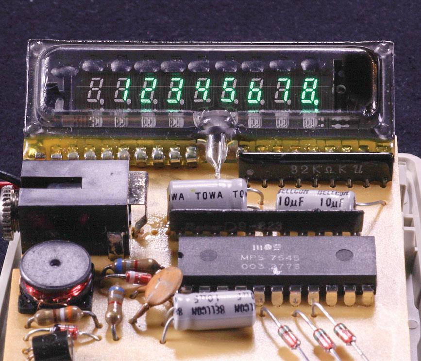 Figure H: Commodore electronic calculator, model 798D.
