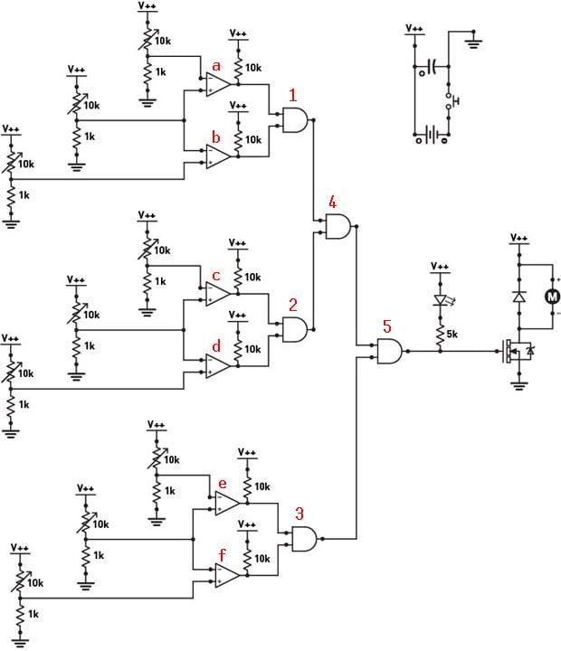 Annotated combinator schematic