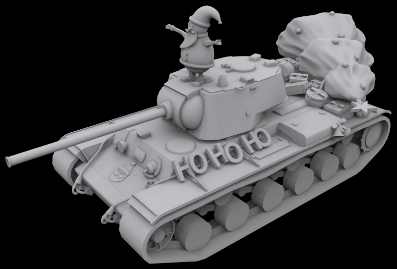 Nothing say's Happy Holidays like Bogdna's 3D printed Santa Tank. The designer included an interesting story as to why Santa is riding a tank rather than his sleigh. Suffice it to say it involves stoned reindeer and relics from the 'World War', with a mission to deliver presents at all costs.
