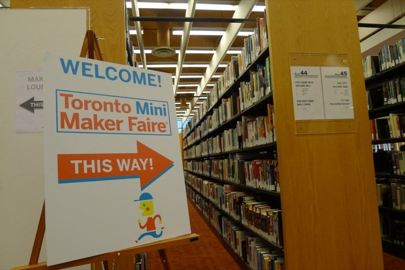 This year's Mini Maker Faire took place at the Toronto Reference Library.