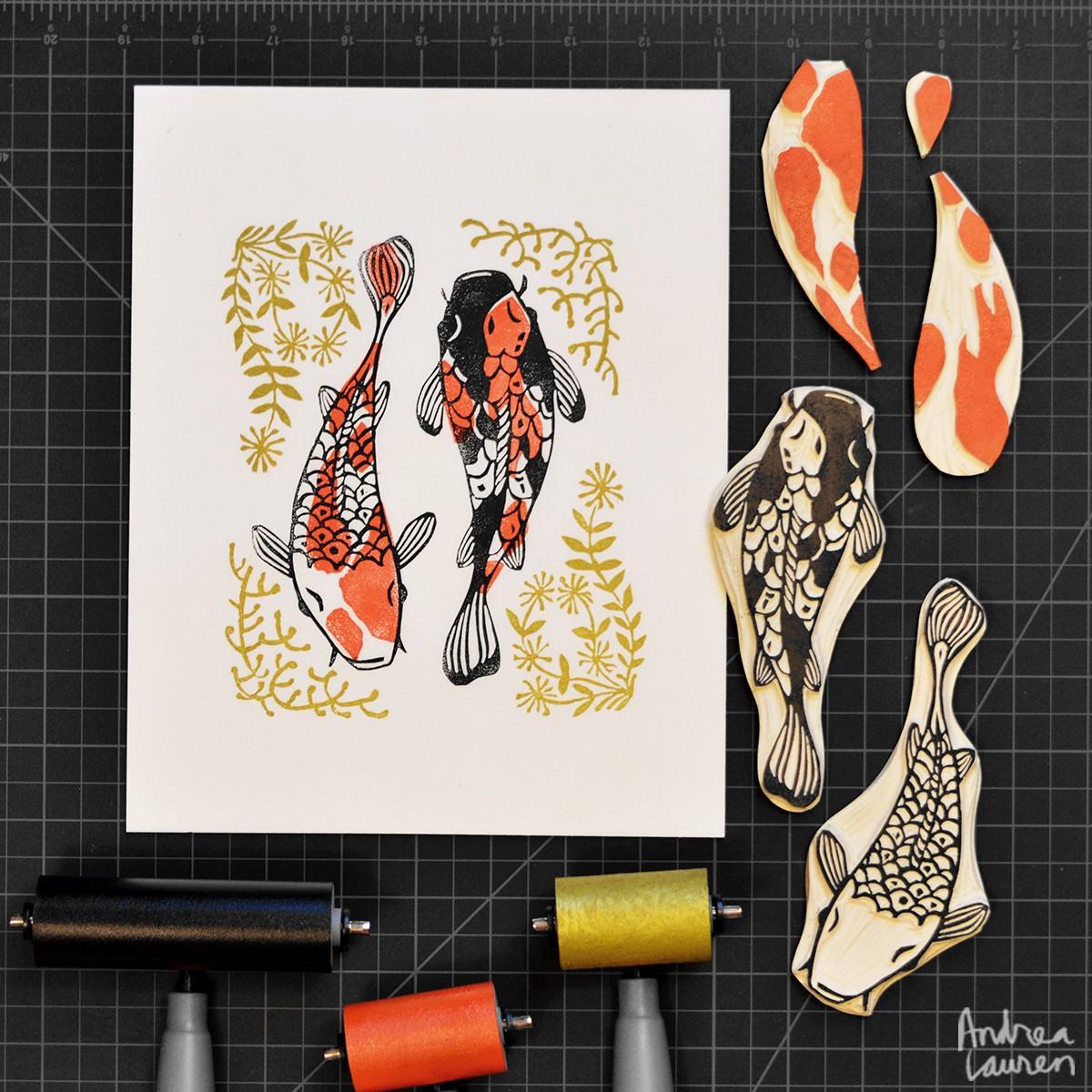 Beautiful Block Prints By Andrea Lauren Make