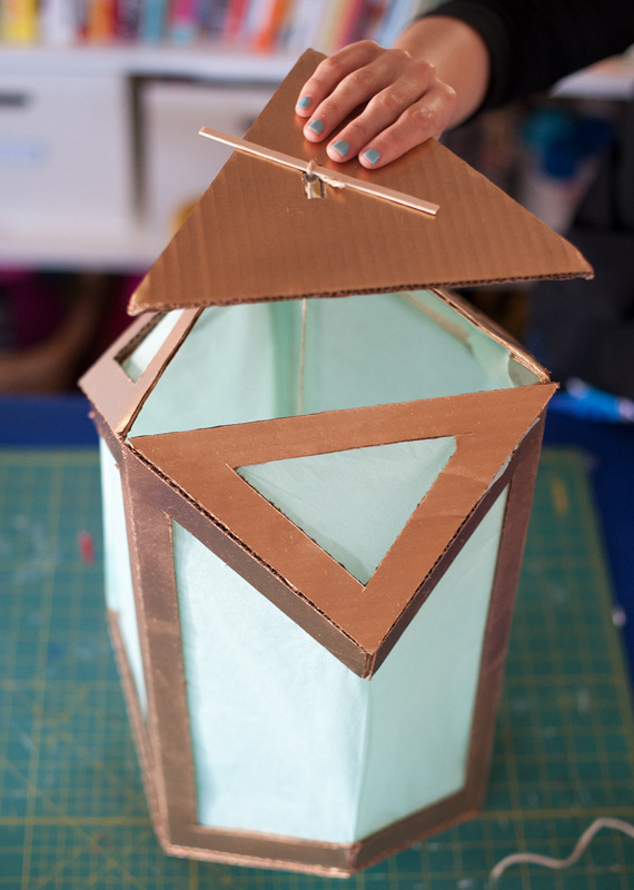 How To Upcycled Cardboard Lanterns Make