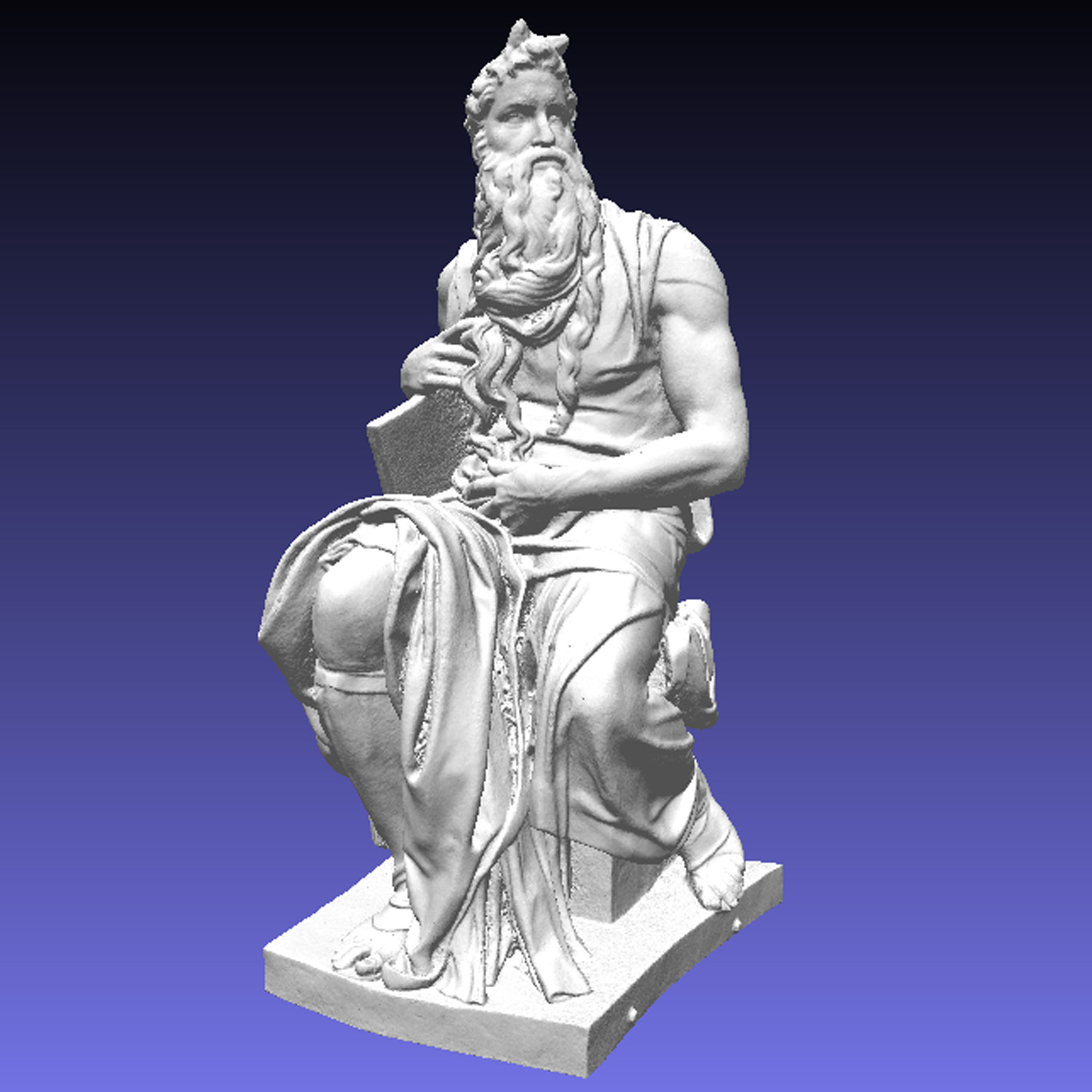 3D render of Moses courtesy Jerry Fisher