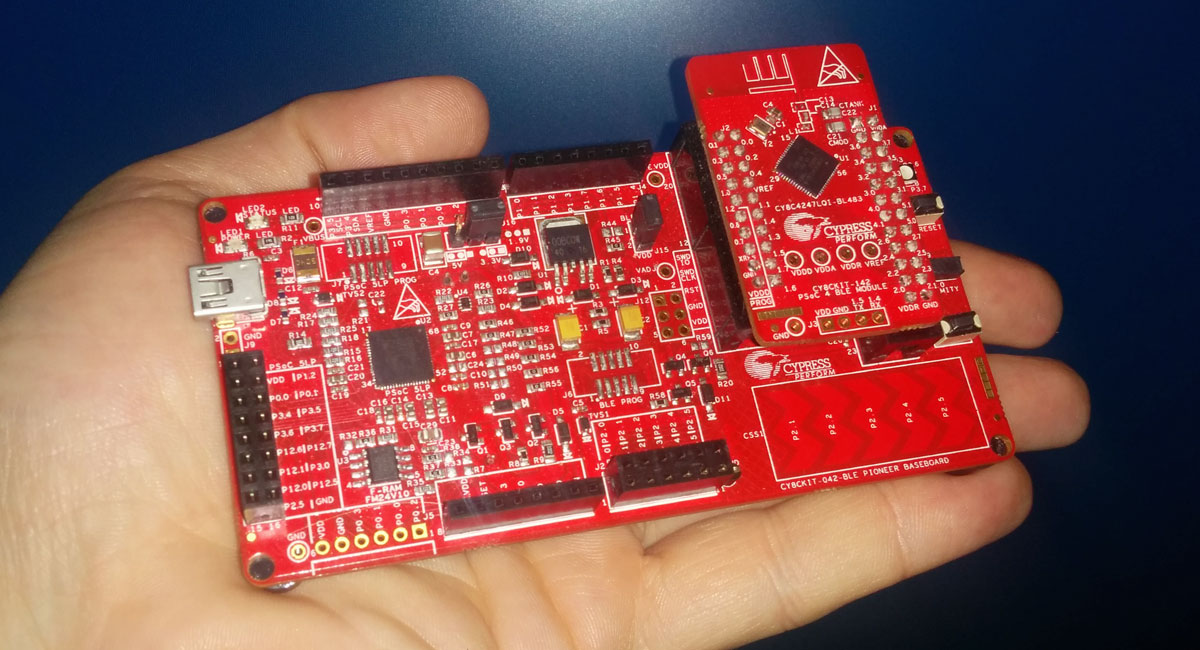 Take a tour of the new PSoC 4 BLE Pioneer development board.