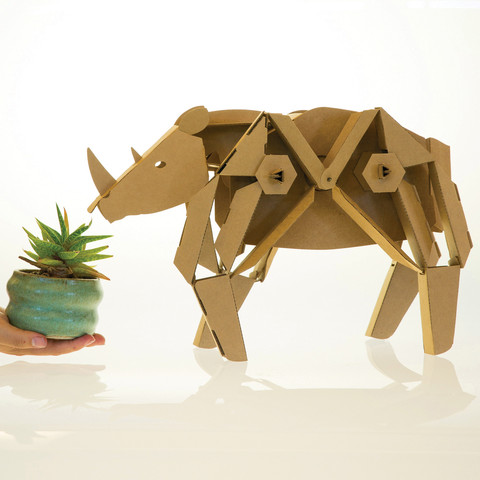 Want to start with cardboard arts at a more beginner level? Check out the Kinetic Creatures in the Maker Shed for a fun an amusing cardboard kit!