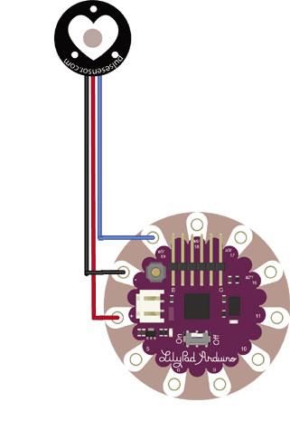 Pulse sensor circuit diagram
