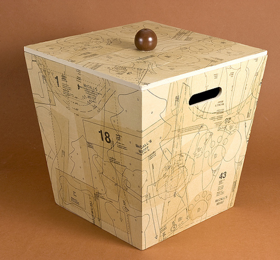 Mod-Podge-box-covered-in-pattern-pieces