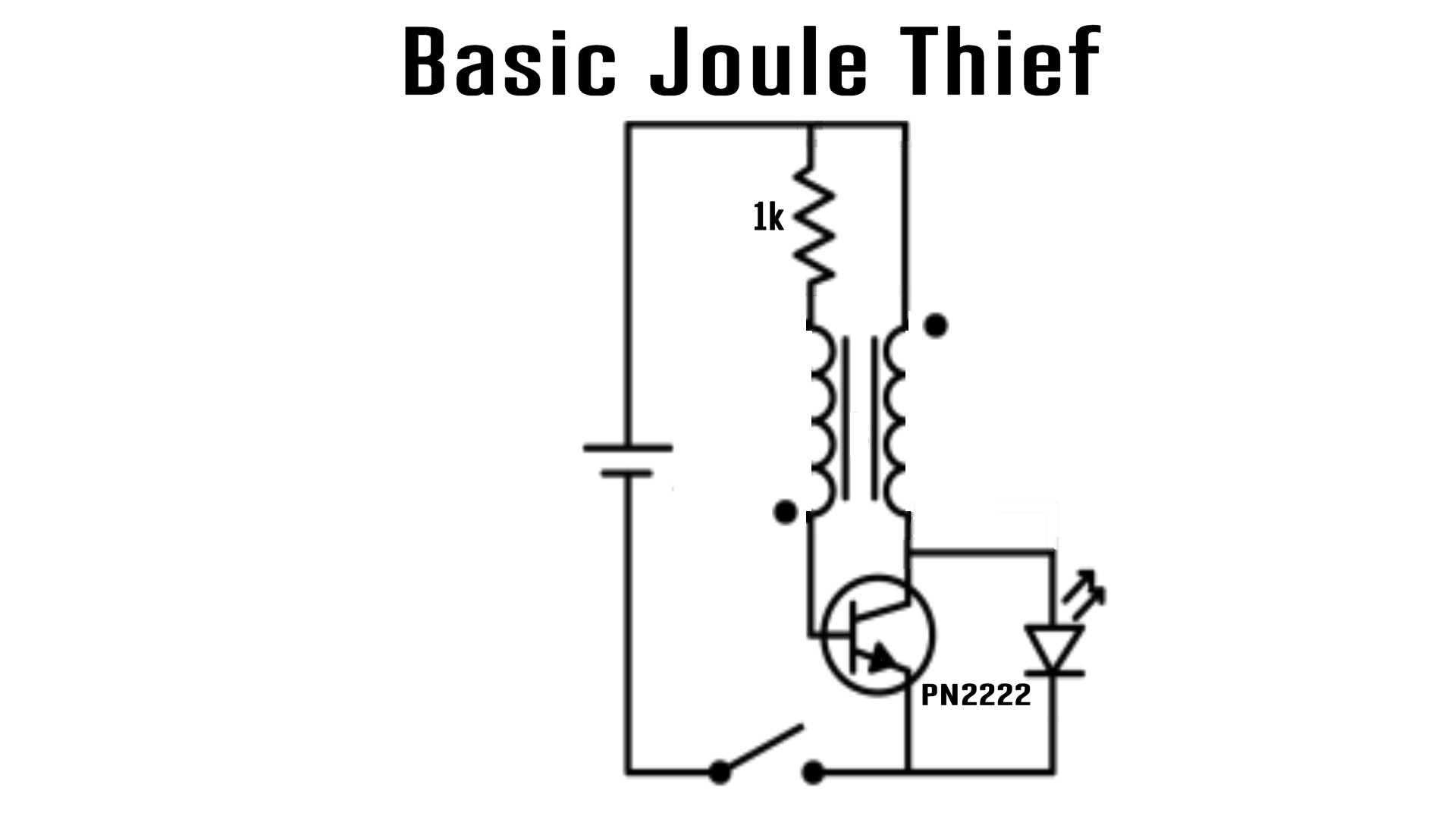 Joule Thief Battery Charger Bring Back The Dead Make Basic Circuit This